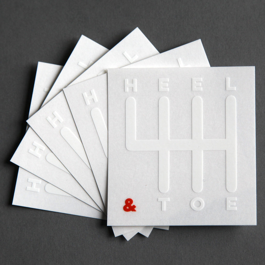 Heel & Toe Manual Sticker<br /> (5-Pack)