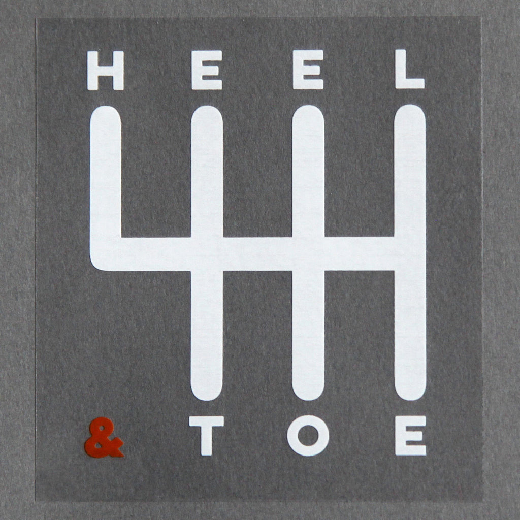 Heel & Toe Manual Sticker