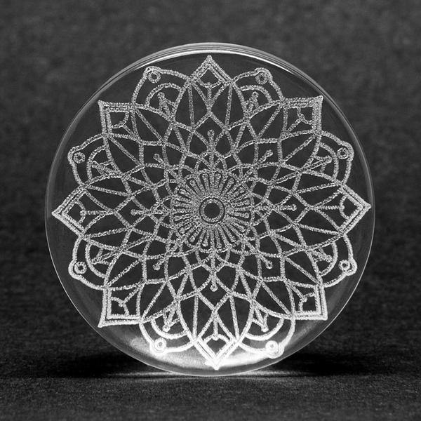 Glass Mandala Plug - Isha Body Jewellery