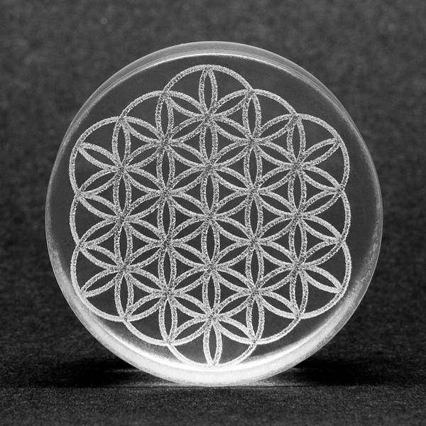 Glass Flower of Life Plug - Isha Body Jewellery