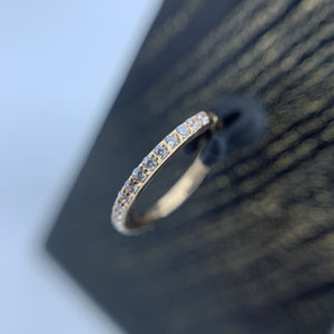 14ct Rose Gold Pave Gem Eternity Ring - Isha Body Jewellery