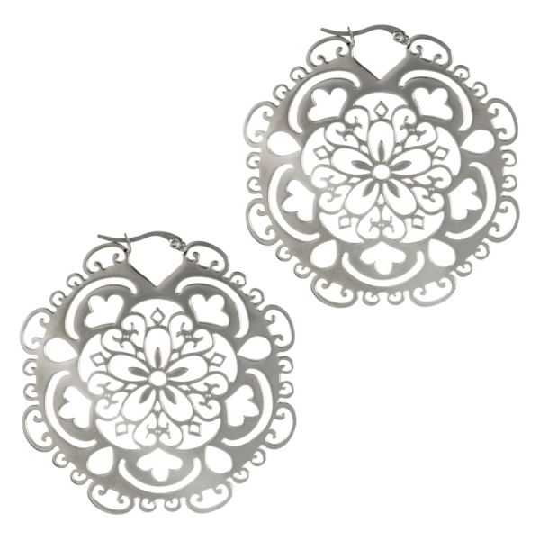 Steel Mandala Earrings - Isha Body Jewellery