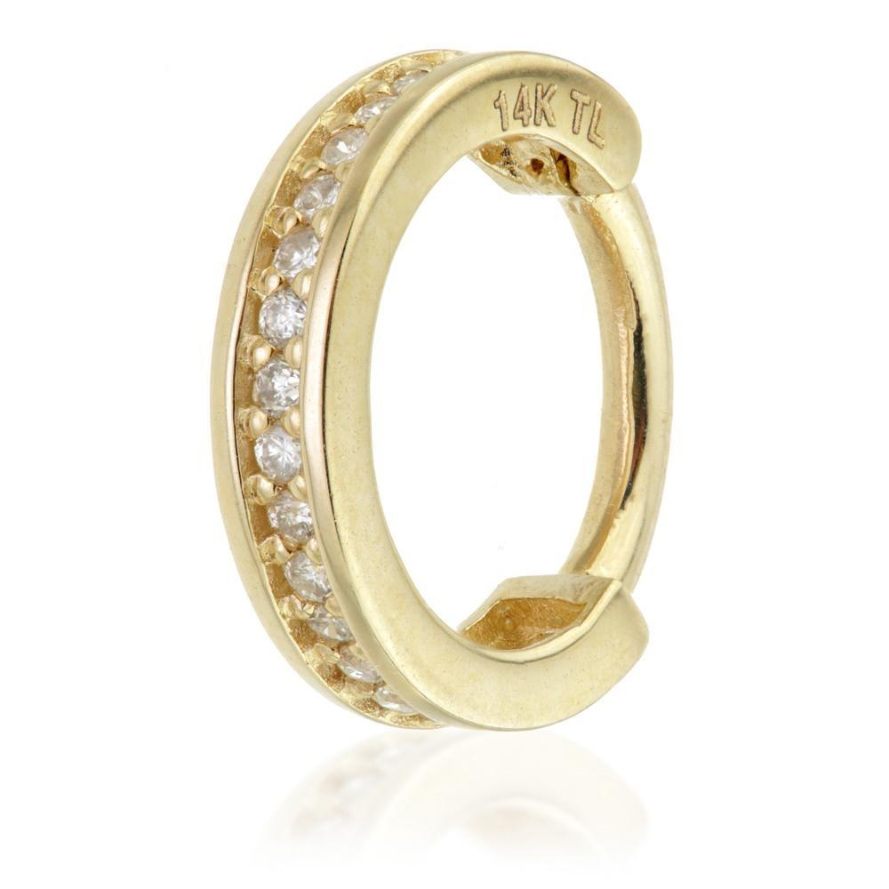14ct Gold Channel Gems Ring - Isha Body Jewellery