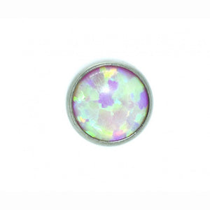 Angel Skin Cabochon Opal Flat Attachment - Isha Body Jewellery