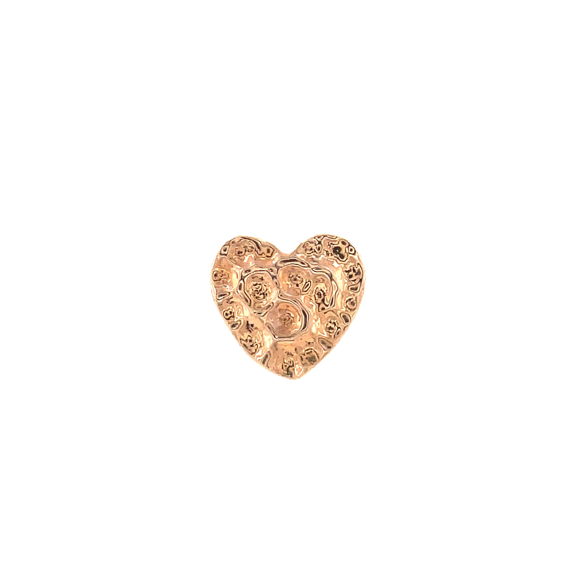 Junipurr 14ct Rose Gold Hammered Heart End