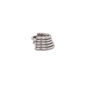 Five Stacked Hinged Segment Ring 8Mm / Polished 5 Rings Ring