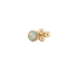 14Ct Gold Bezel Set Tri-Bead Opal End Attachment