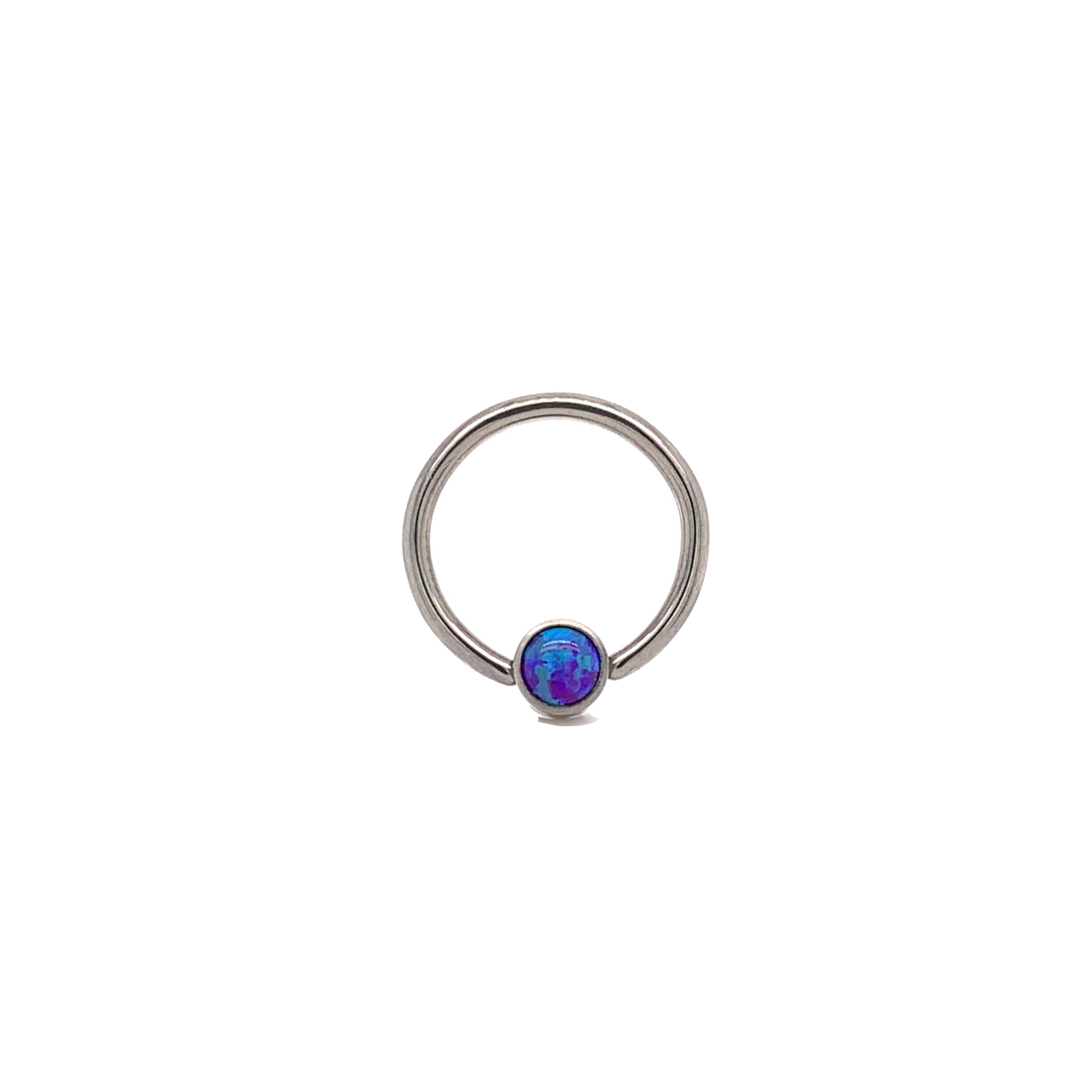 Halo Collection Sleepy Lavender Opal Captive Ring - Isha Body Jewellery
