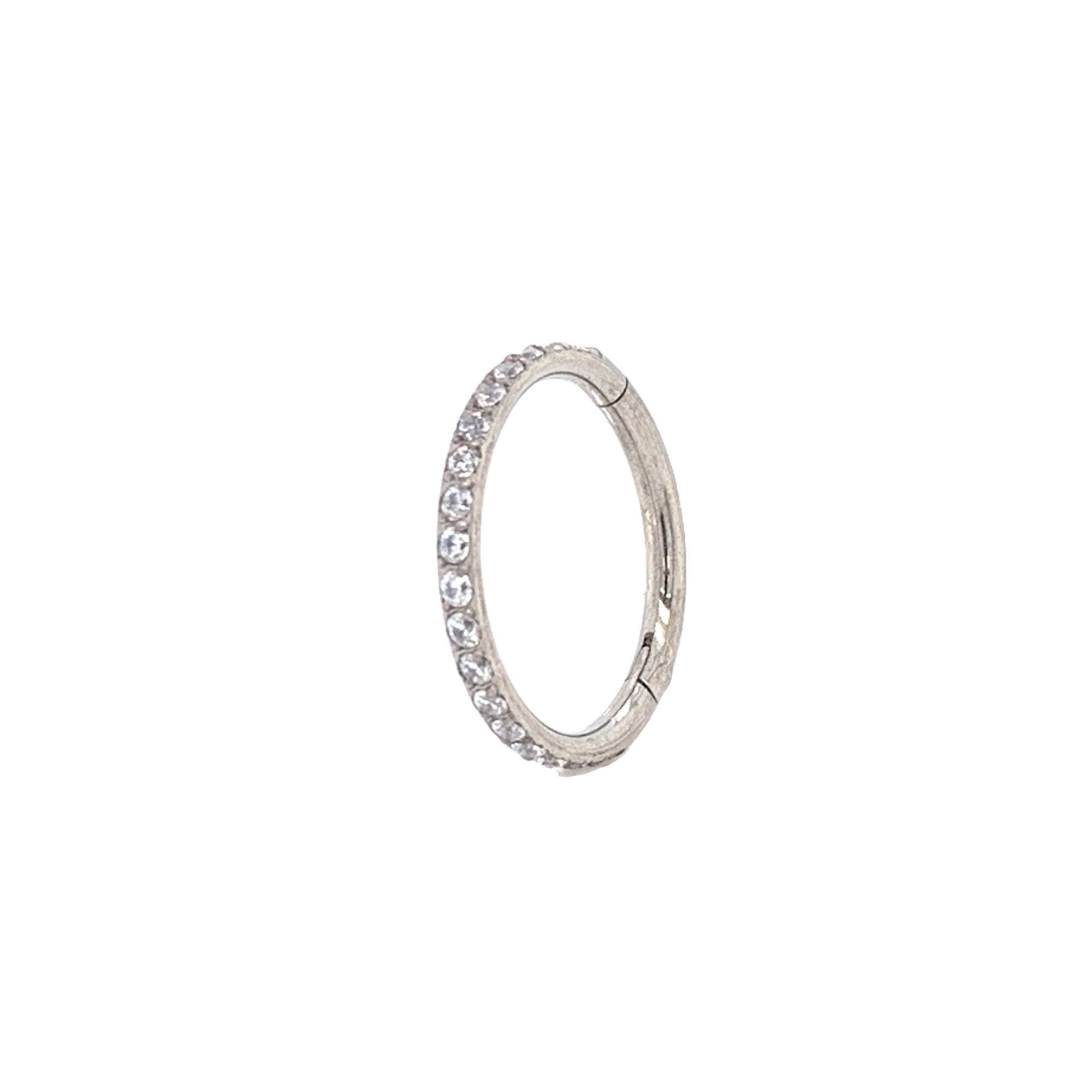 Eternity Pave Set Cz Segment Ring Hinged Ring