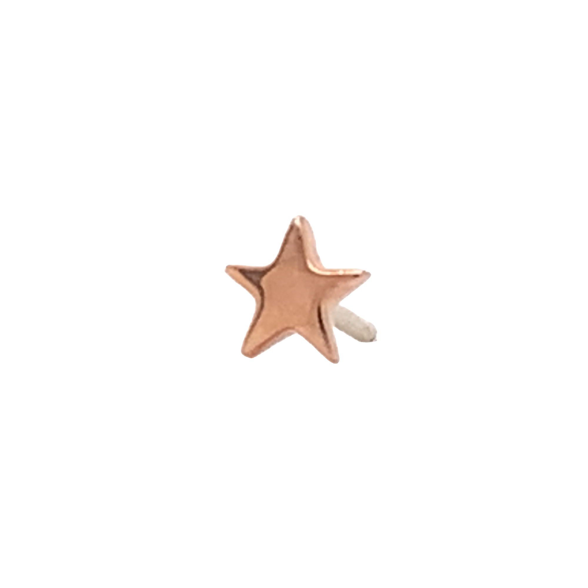 14Ct Rose Gold Star End Attachment