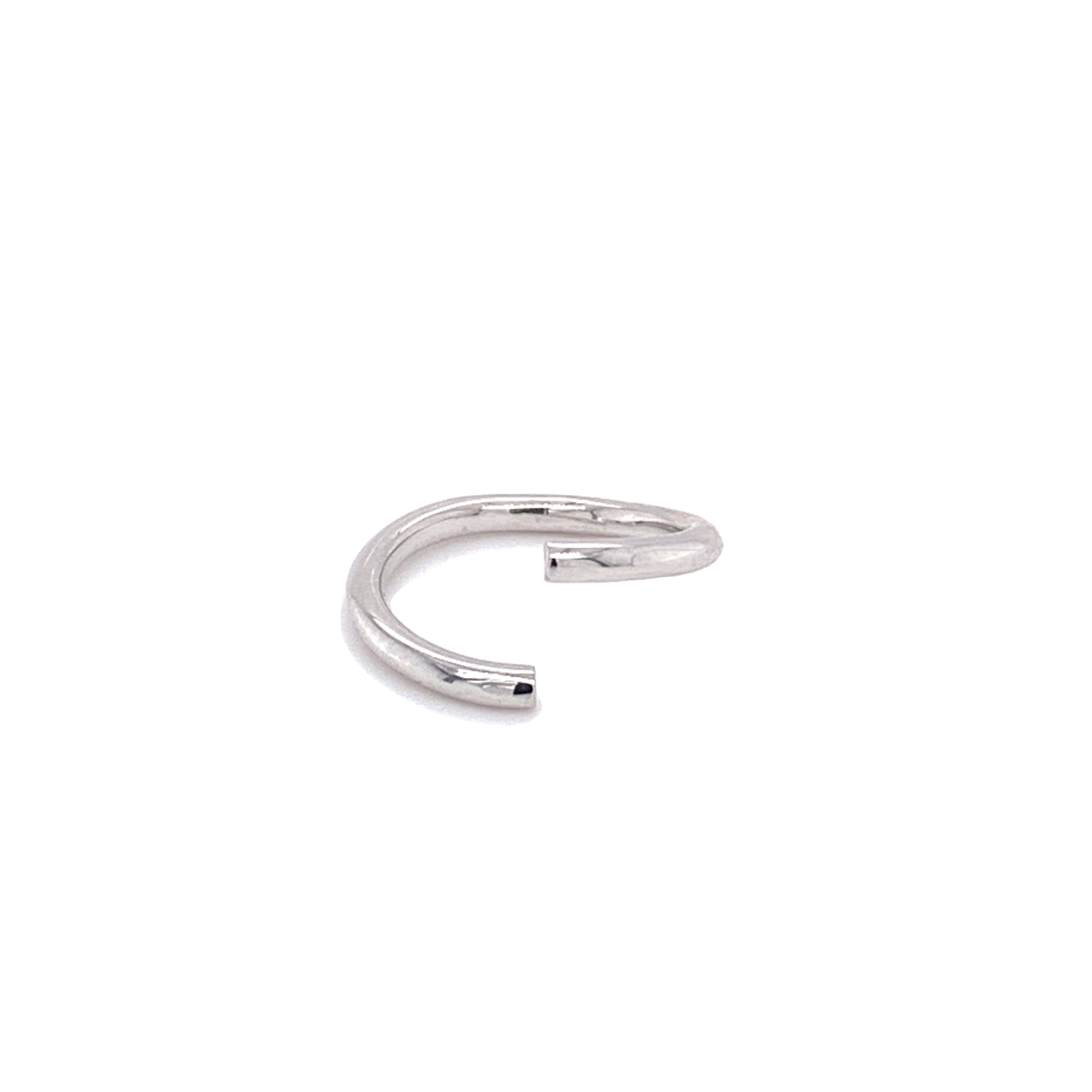 14Ct White Gold Seam Ring