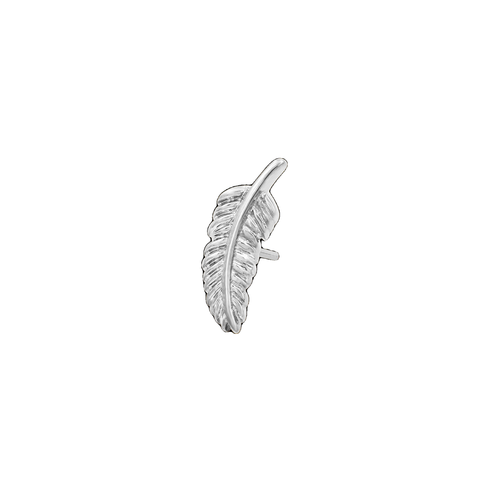 14Ct White Gold Feather Quill Attachment