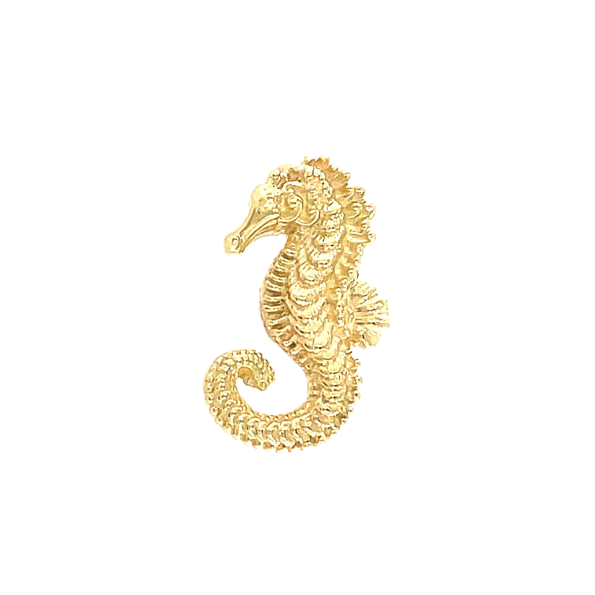 Anatometal 18ct Yellow Gold Seahorse End