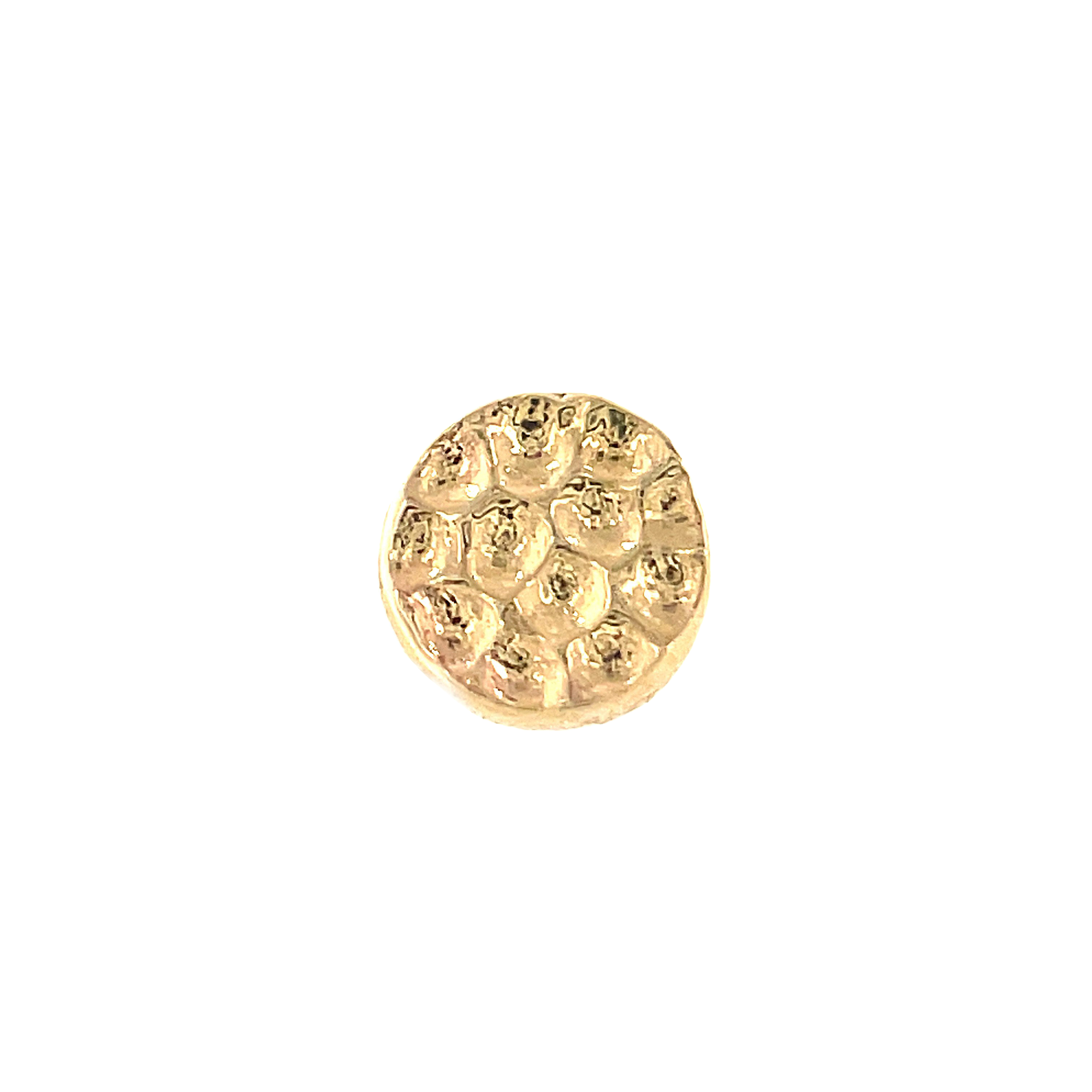 Junipurr 14ct Gold Hammered Disc End