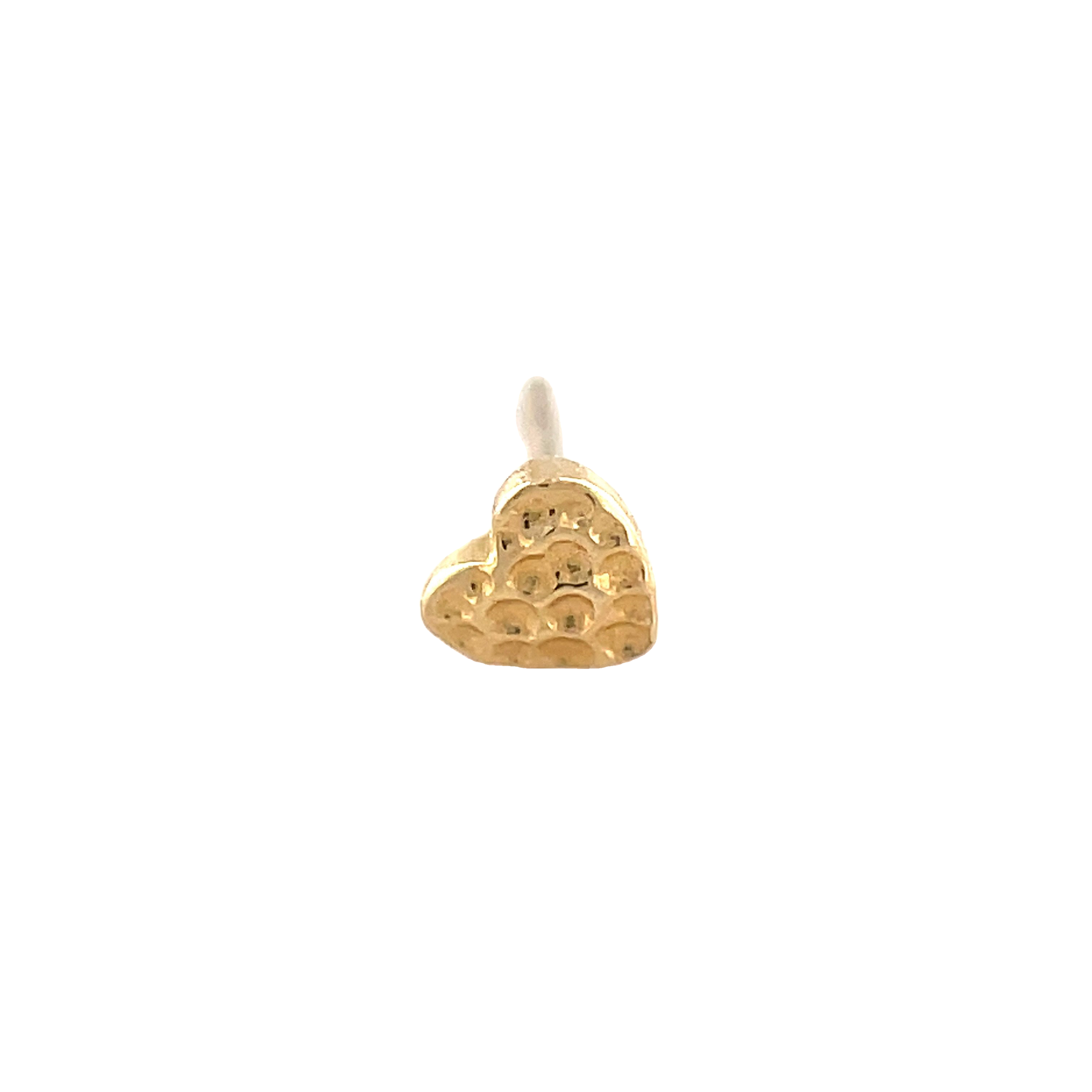 Junipurr 14ct Gold Hammered Heart End