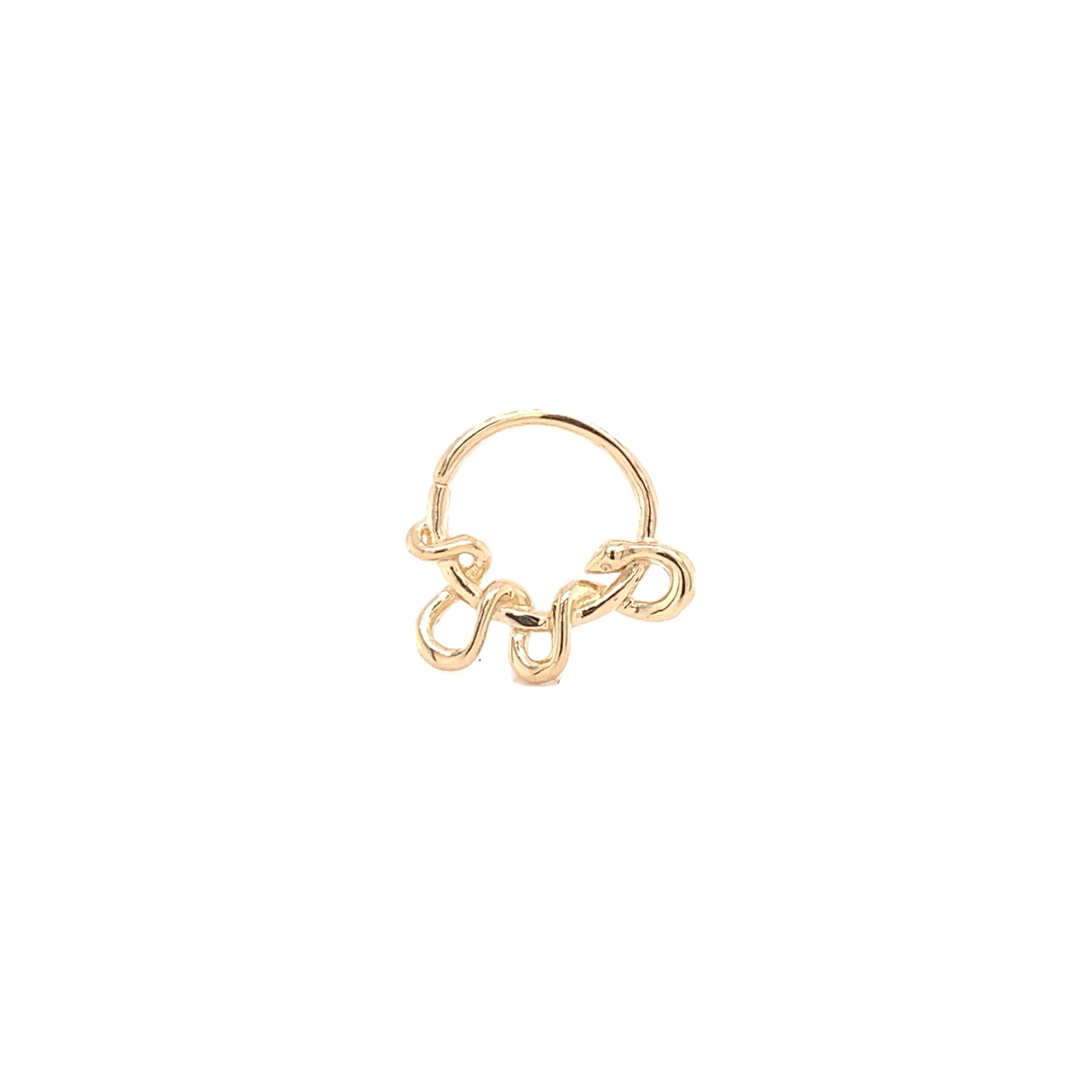 14Ct Gold Kaa Seam Ring Yellow Gold