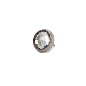 Neometal Rose Cut Faceted White Topaz End Threadless Attachment