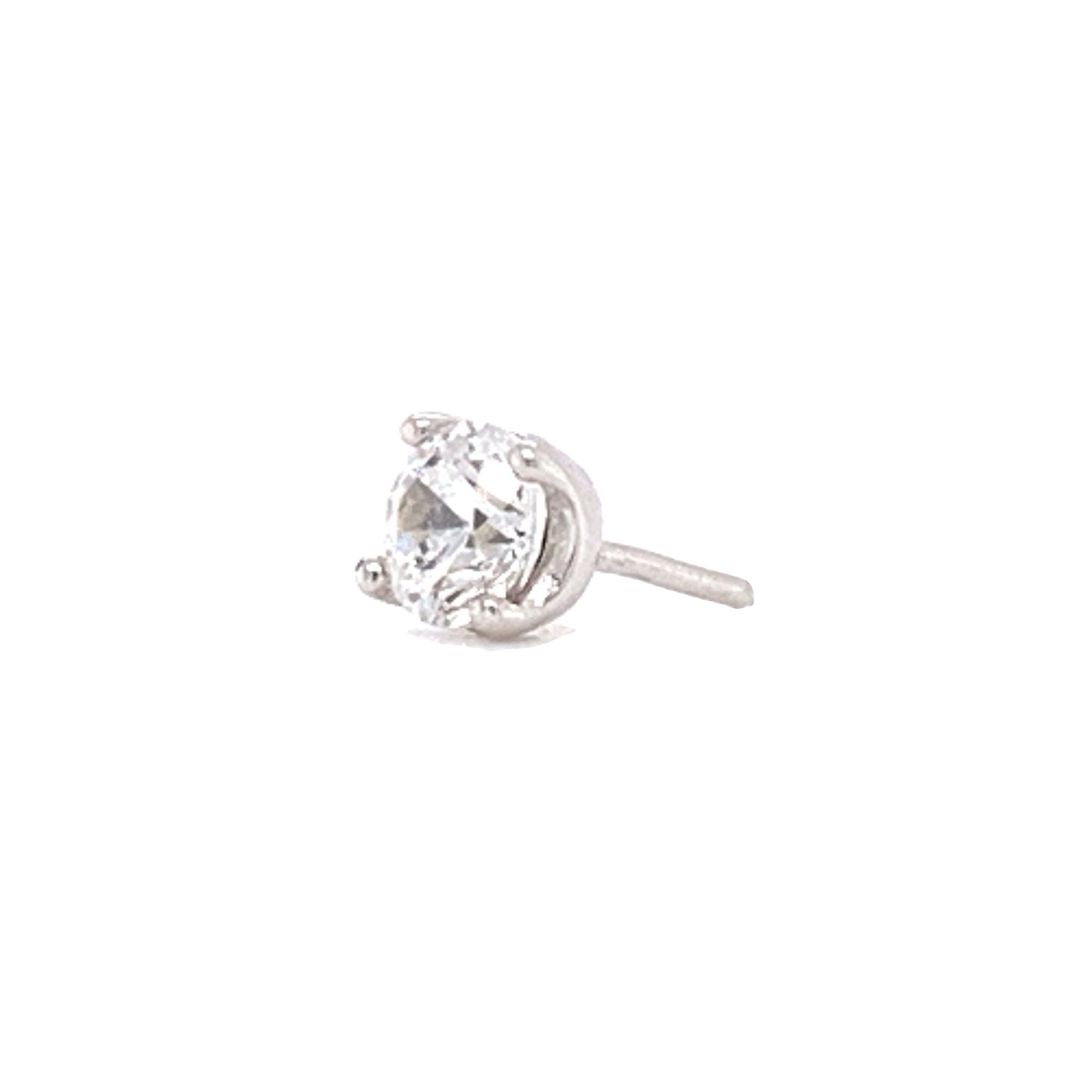 14Ct White Gold Prong Set Swarovski End Attachment