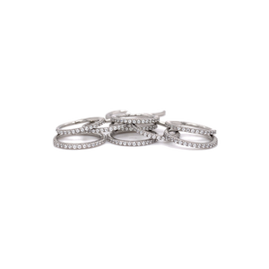 Steel Swarovski Gems Eternity Ring - Isha Body Jewellery