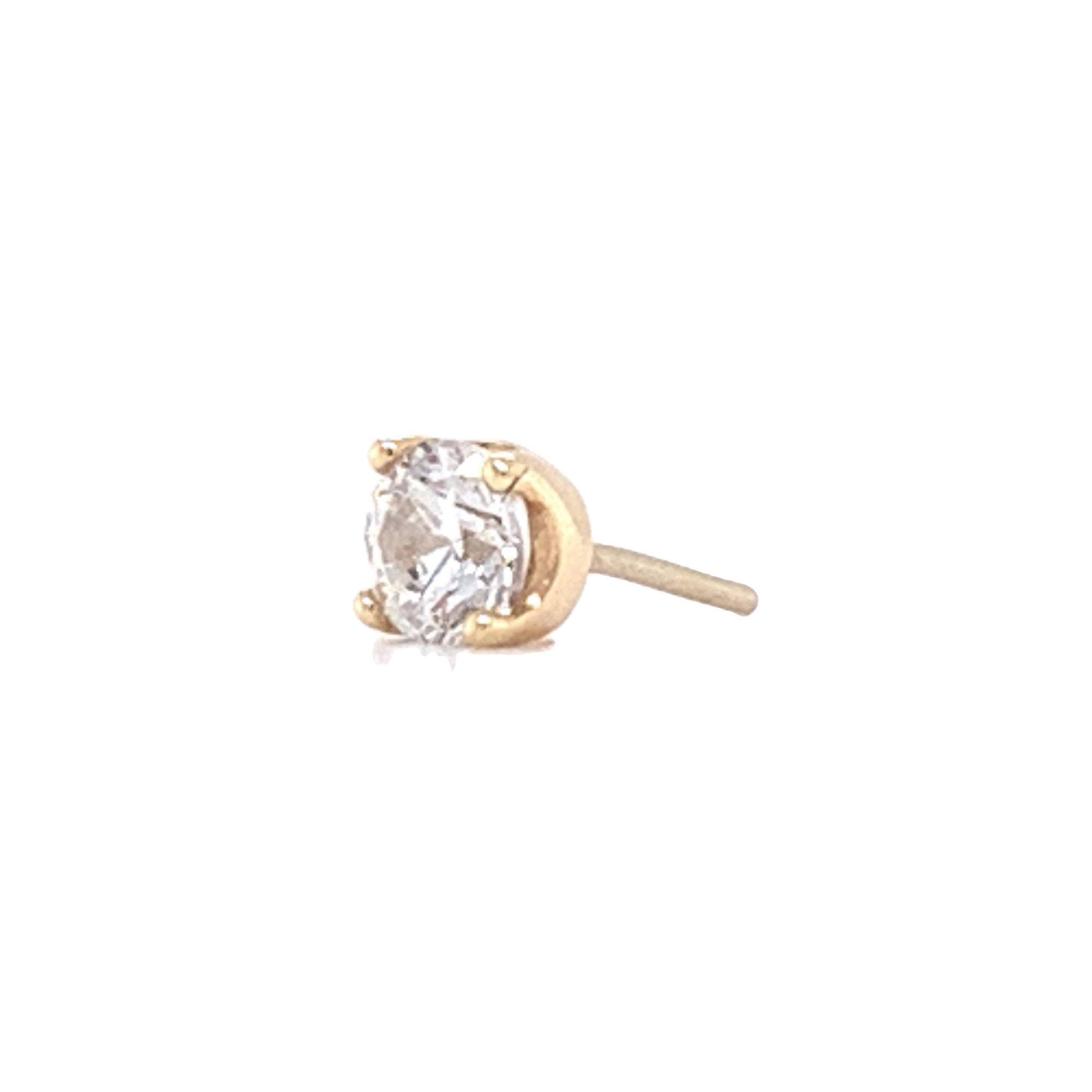 14Ct Gold Prong Set Swarovski End Attachment