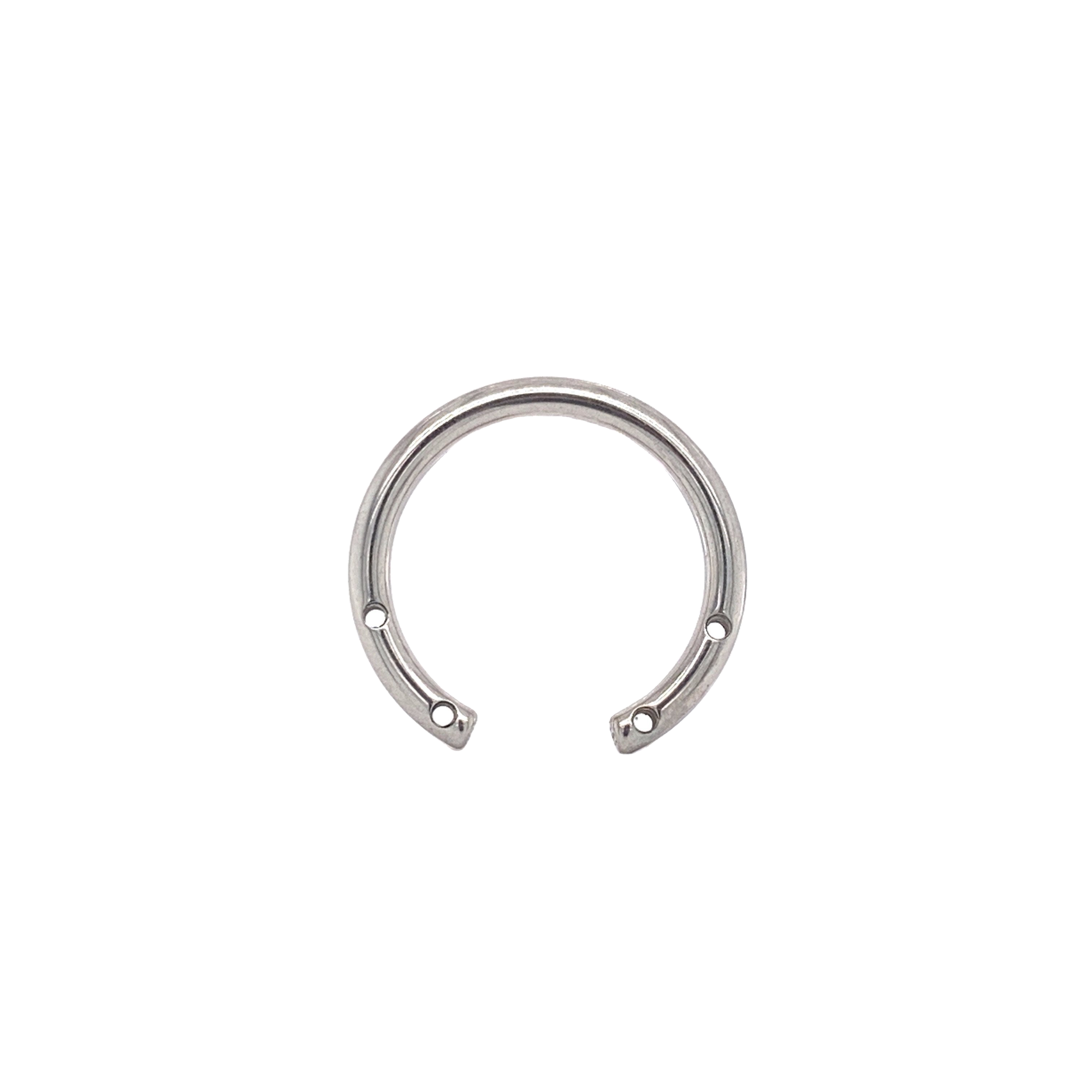 Circular Barbell With 4 Front Facing Threads (Shaft Only) 12Mm / 0.9Mm Curved