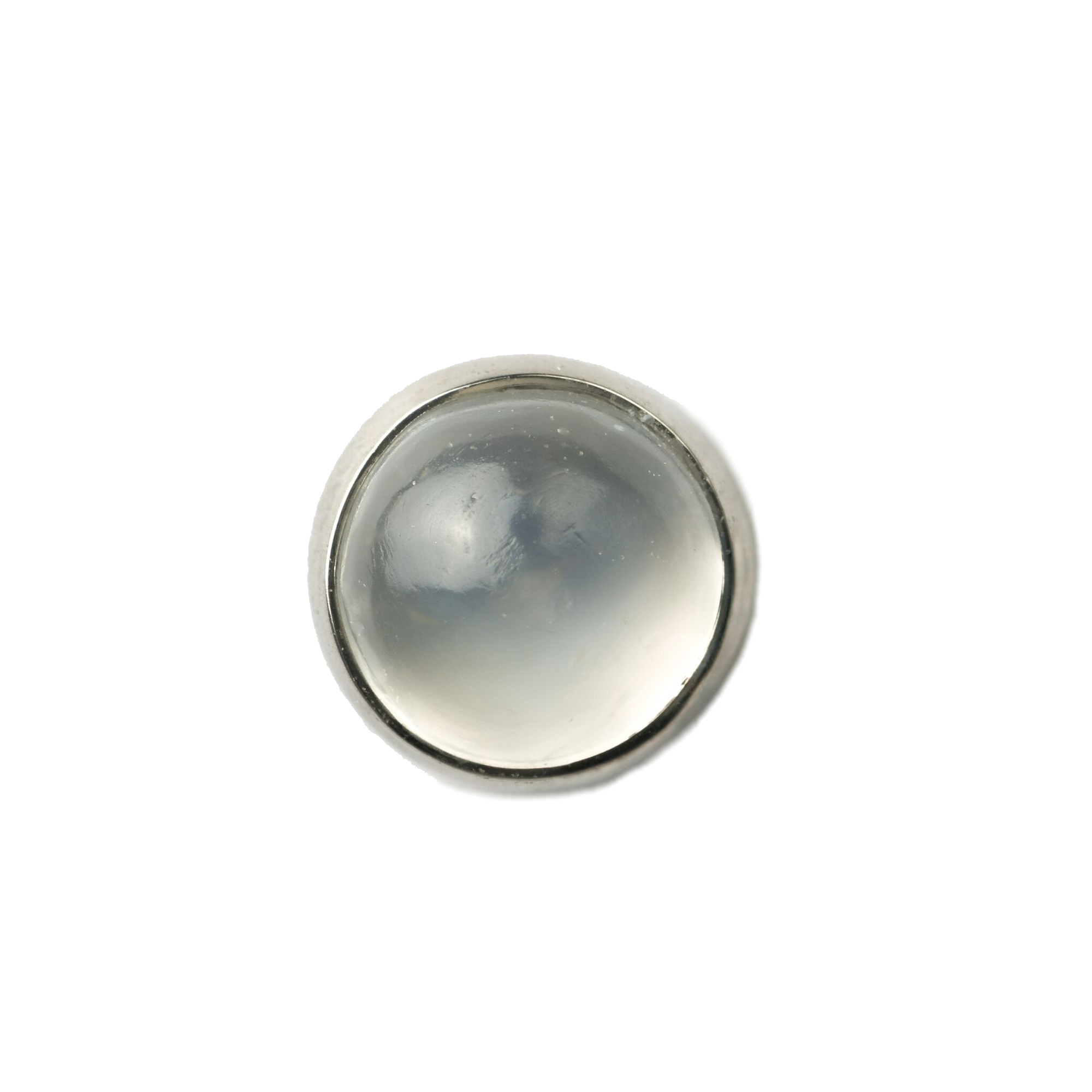 Titanium Flat Back Natural Stone Cabochon Ends THREADLESS - Isha Body Jewellery