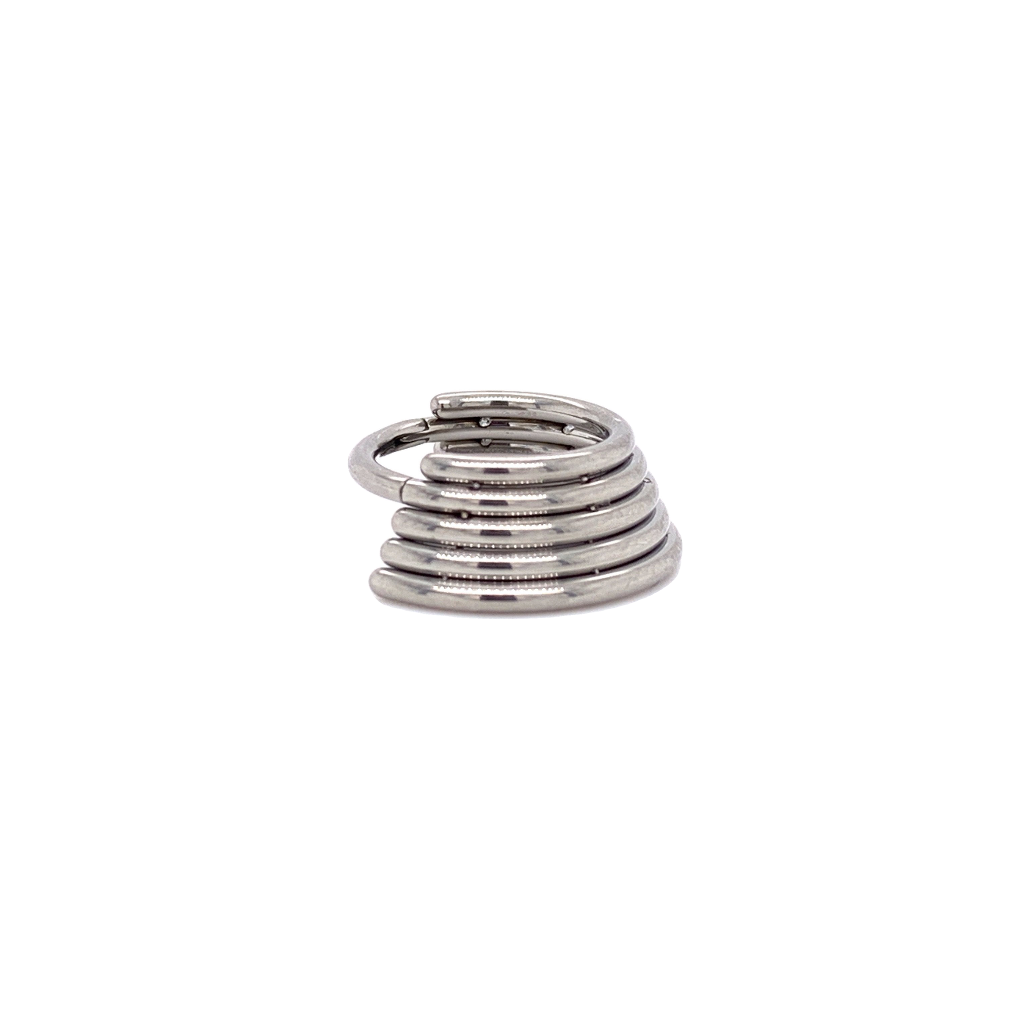 Five Stacked Hinged Segment Ring Ring