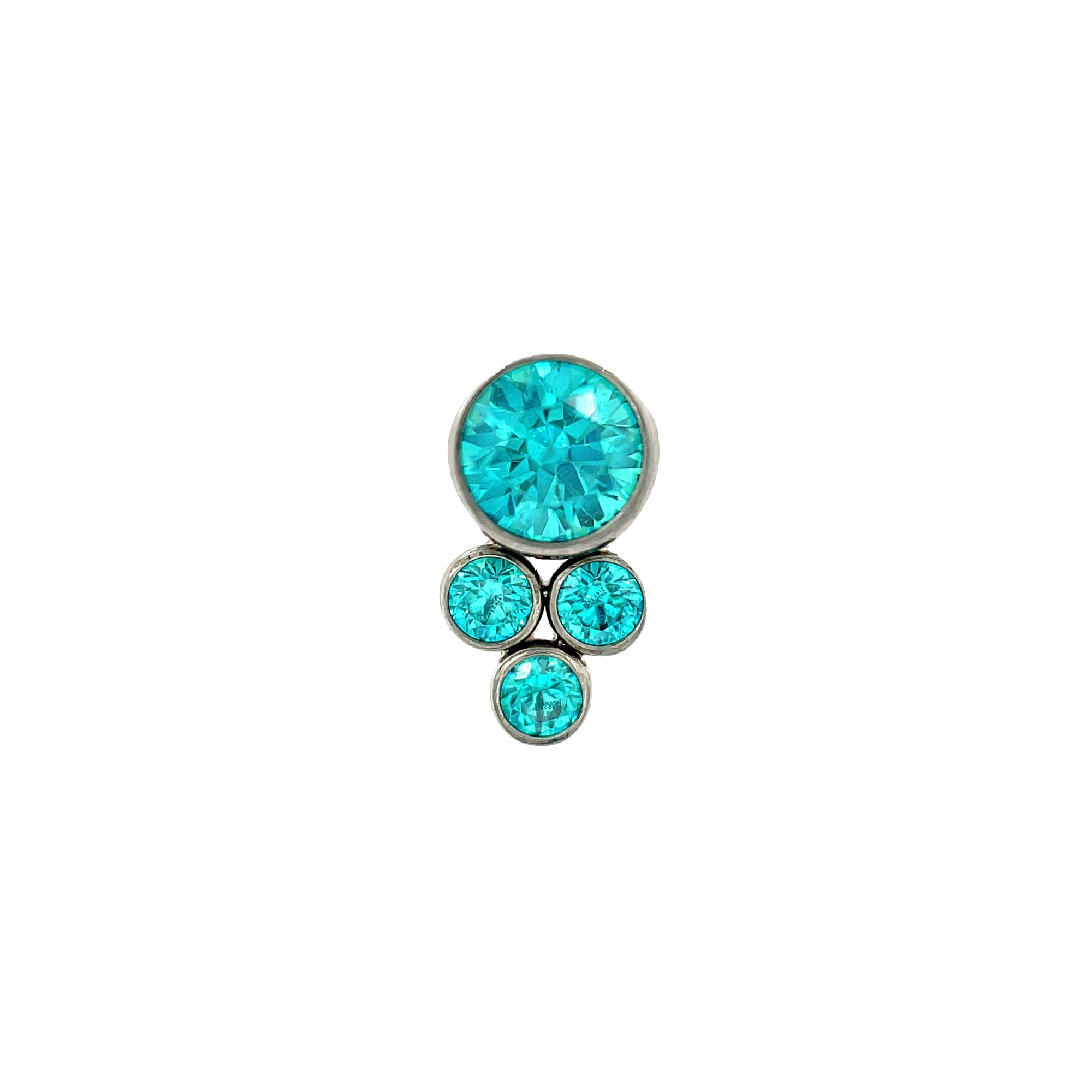 LeRoi Bijoux Mint Green CZ End - Isha Body Jewellery