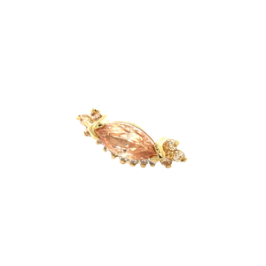 Auris 14ct Gold Anastasia Amber, Champagne & White CZ End