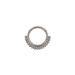 Titanium Boho Hinged Ring - Isha Body Jewellery