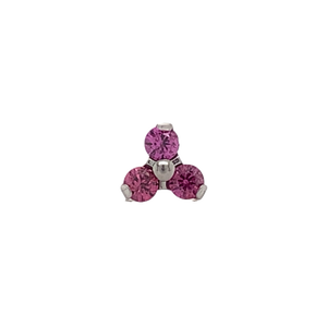 Titanium Pink Garnet Trio Attachment