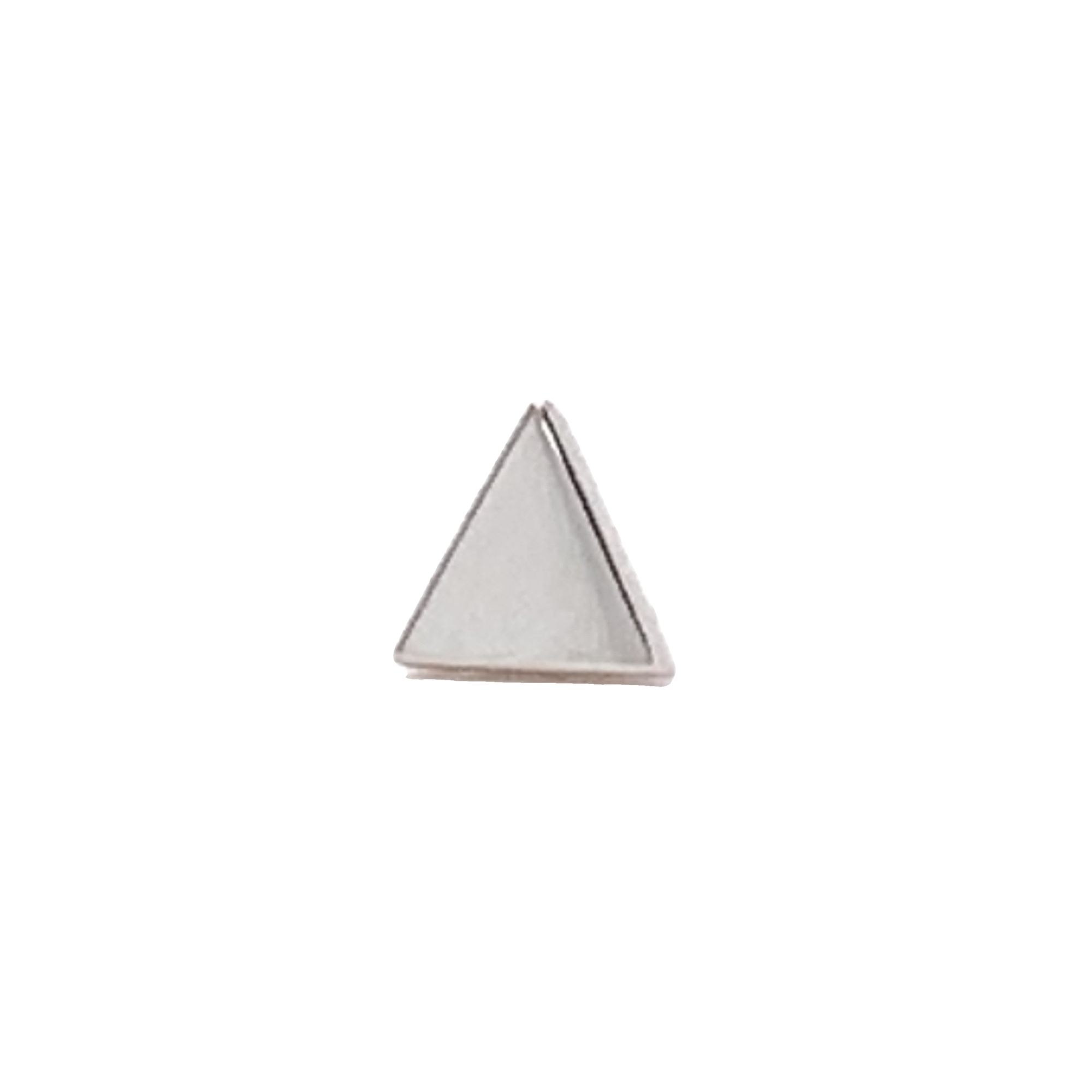 14Ct White Gold Triangle End Attachment