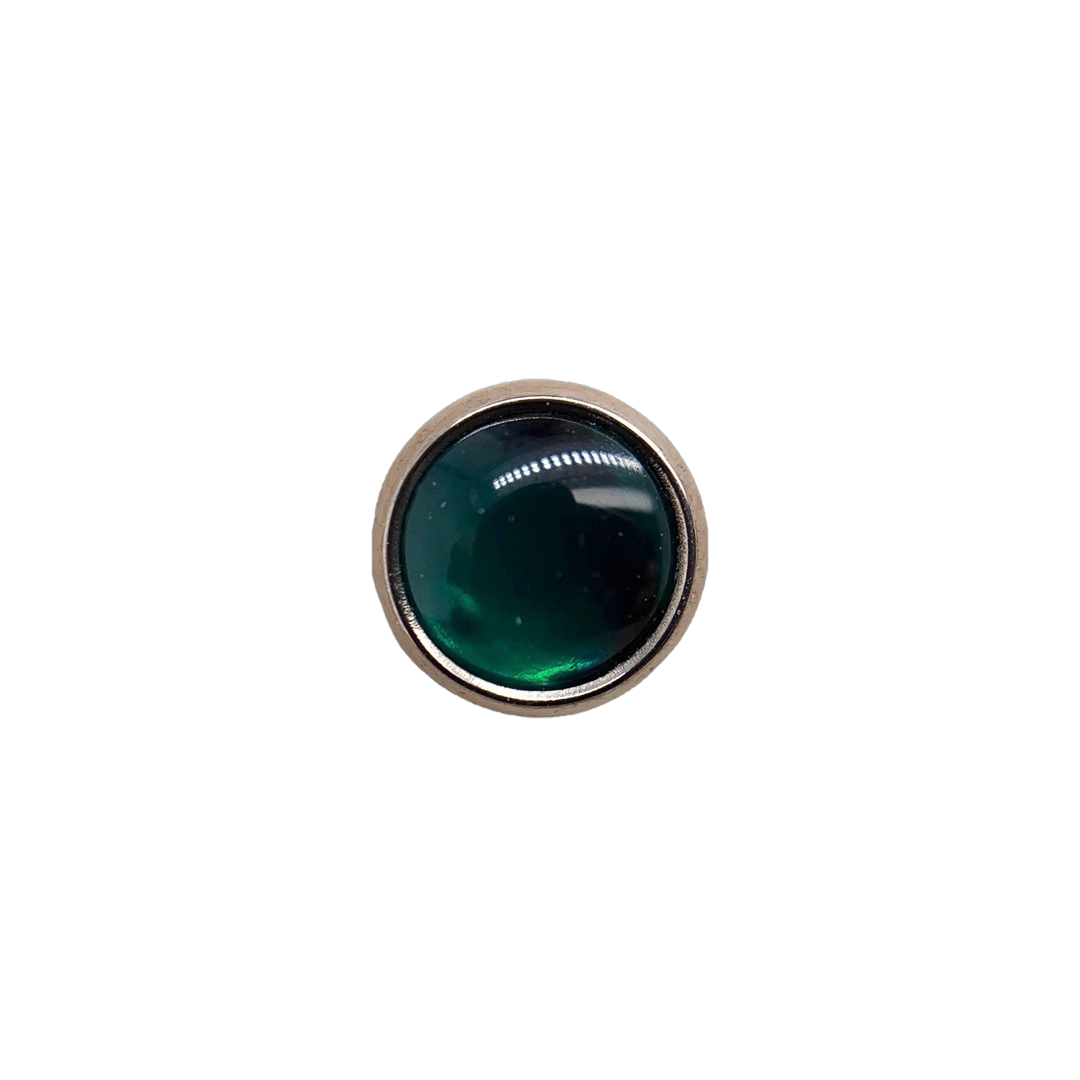 Titanium Flat Back Green Paua Shell Cabochon End (Gp) / 4Mm 0.9Mm Attachment
