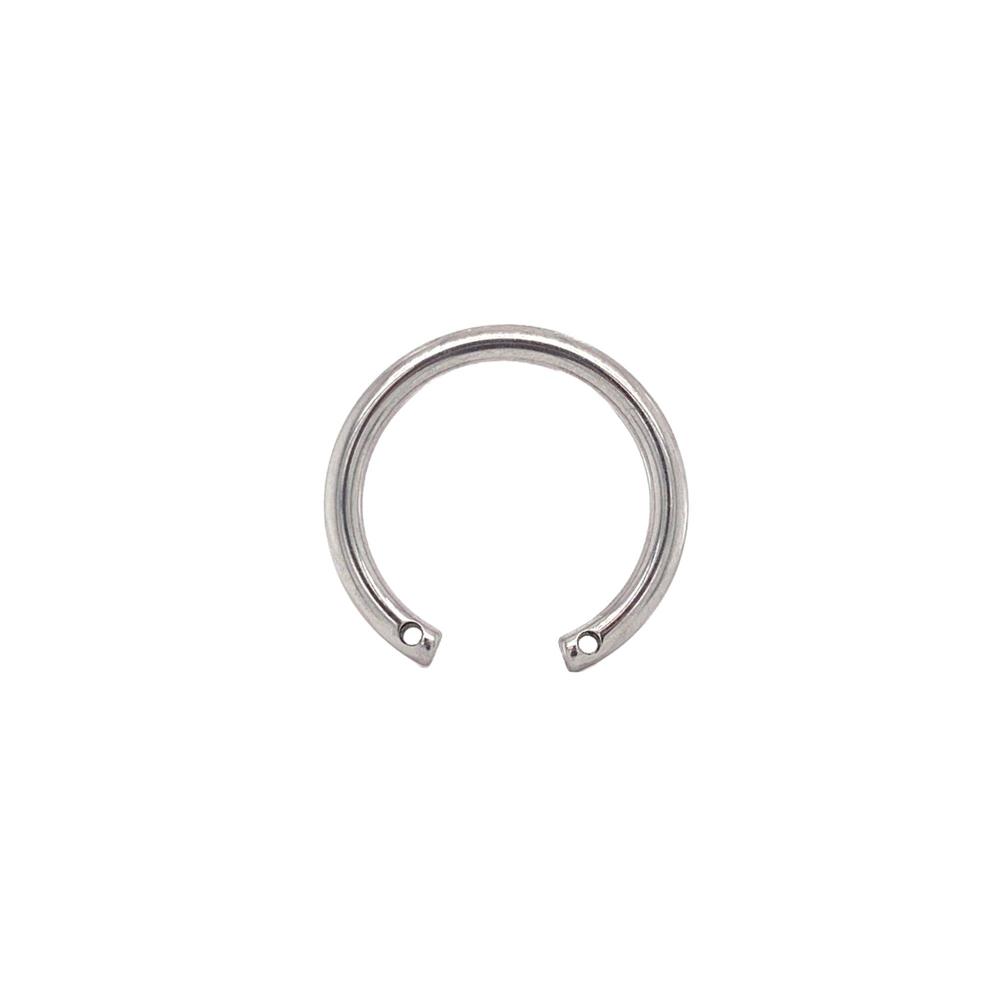 Circular Barbell With 2 Front Facing Threads (Shaft Only) 12Mm / 0.9Mm Curved