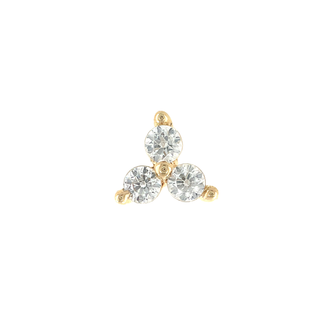 Junipurr 14ct Gold Trinity Swarovski End