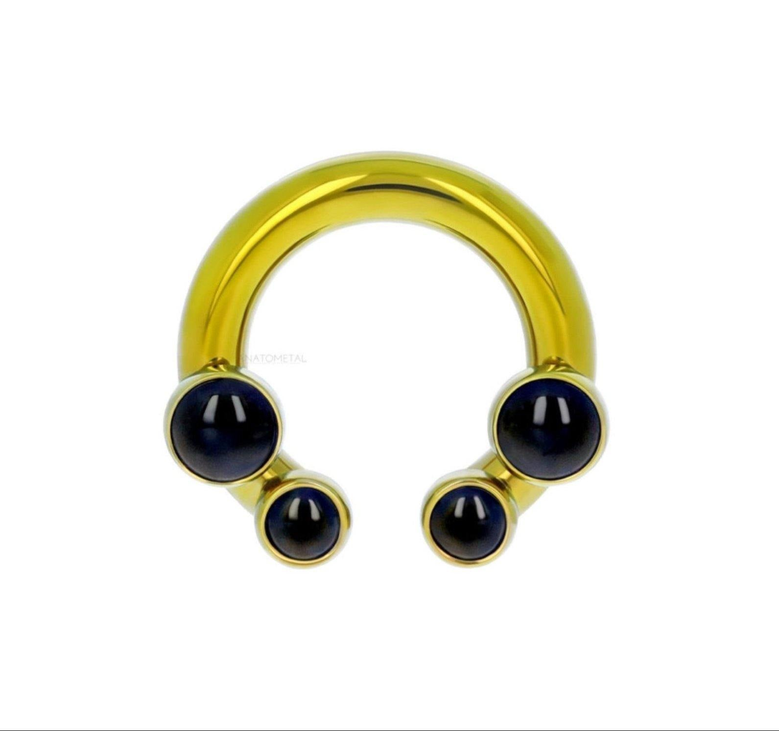 Ti Front set Circular Bar 4 Threads (Shaft Only) - Isha Body Jewellery