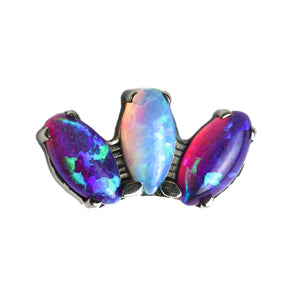 Odyssey Marquise Sleepy Lavender Opal End - Isha Body Jewellery