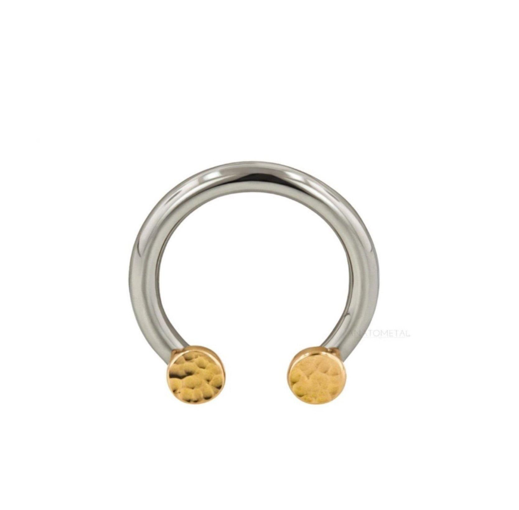 Ti Front set Circular Bar 2 Threads (Shaft Only) - Isha Body Jewellery
