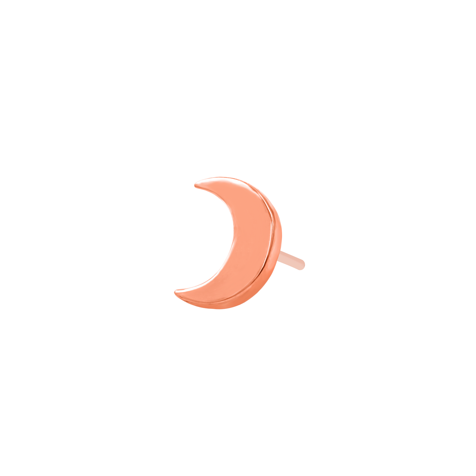14ct Rose Gold Moon End