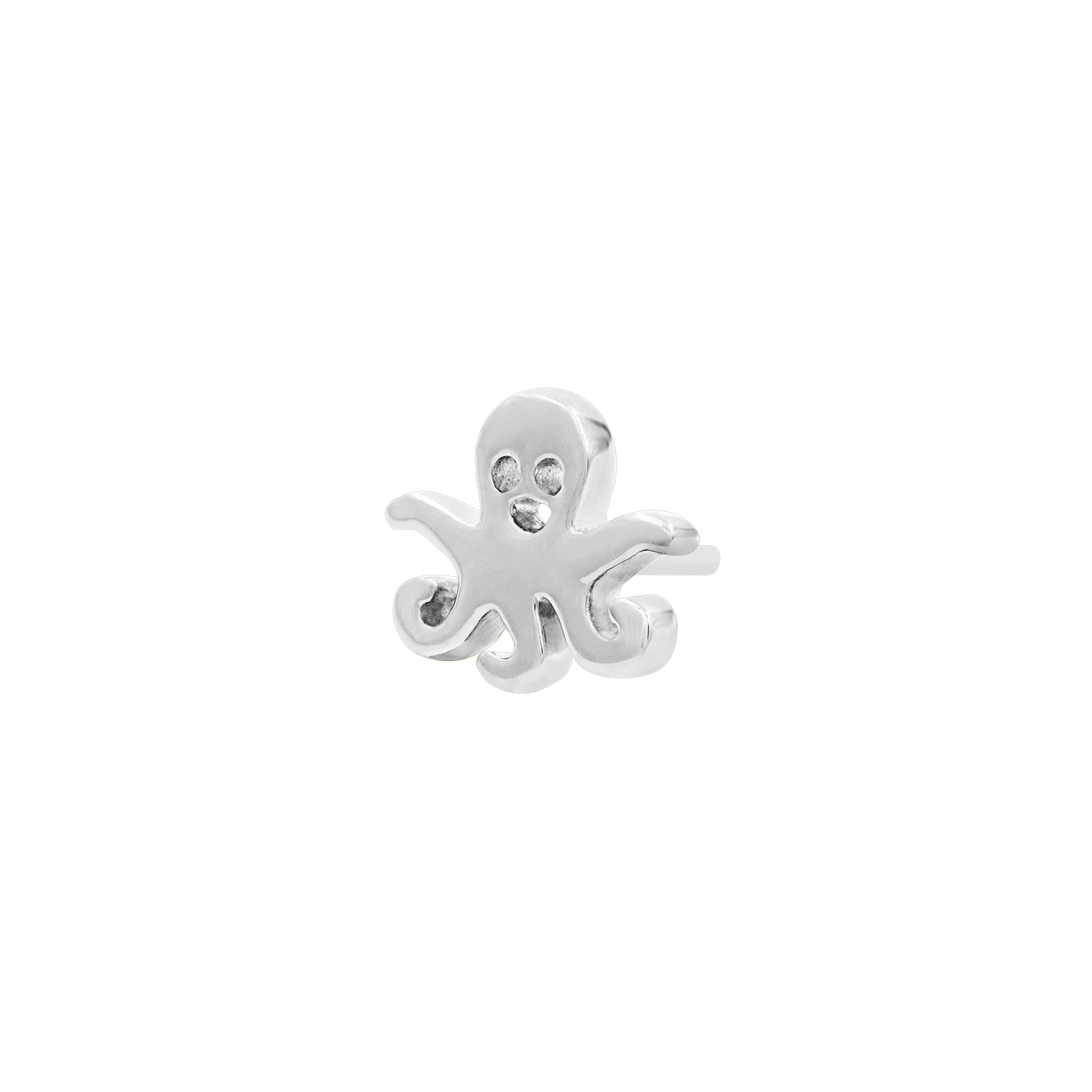 14ct White Gold Octopus End - Isha Body Jewellery