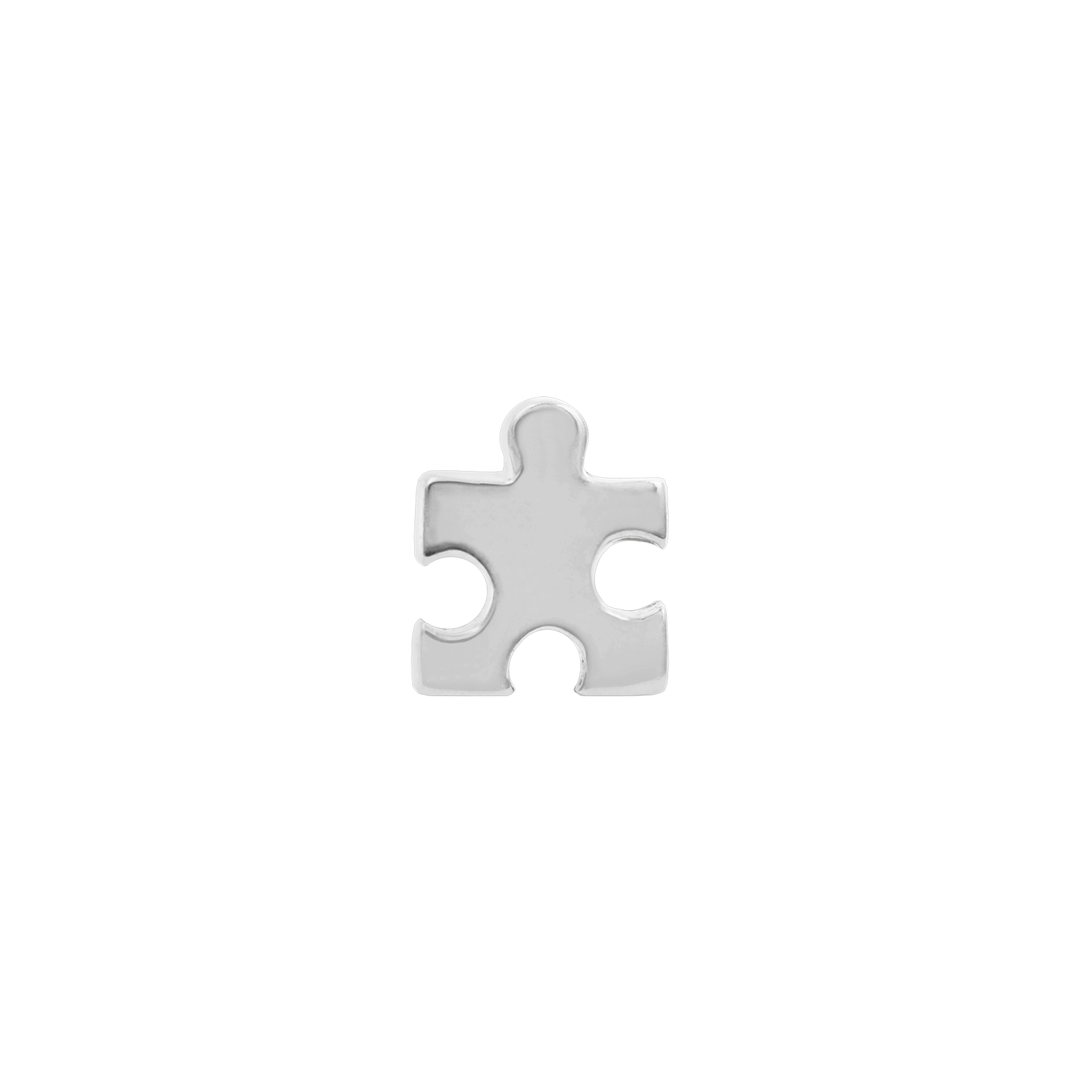 14ct White Gold Puzzle Piece End - Isha Body Jewellery