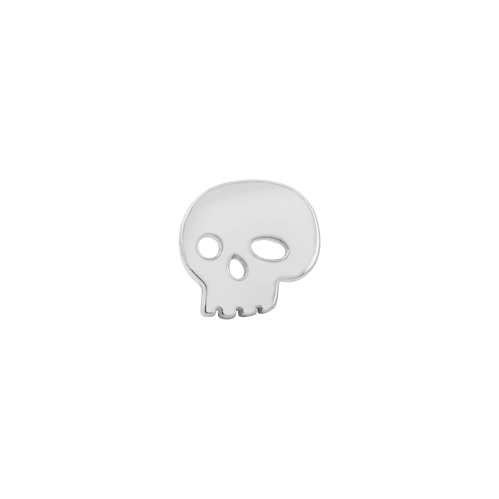 14ct White Gold Skull End