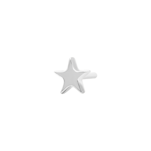 14ct White Gold Star End - Isha Body Jewellery