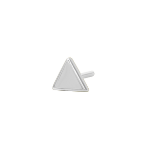 14ct White Gold Triangle End - Isha Body Jewellery