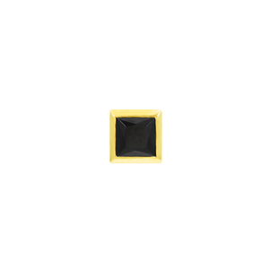 14ct Gold BLM Square Bezel End