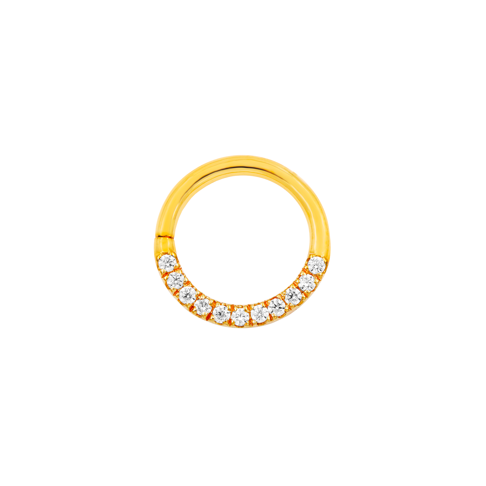 14ct Gold CZ Seam Ring - Isha Body Jewellery