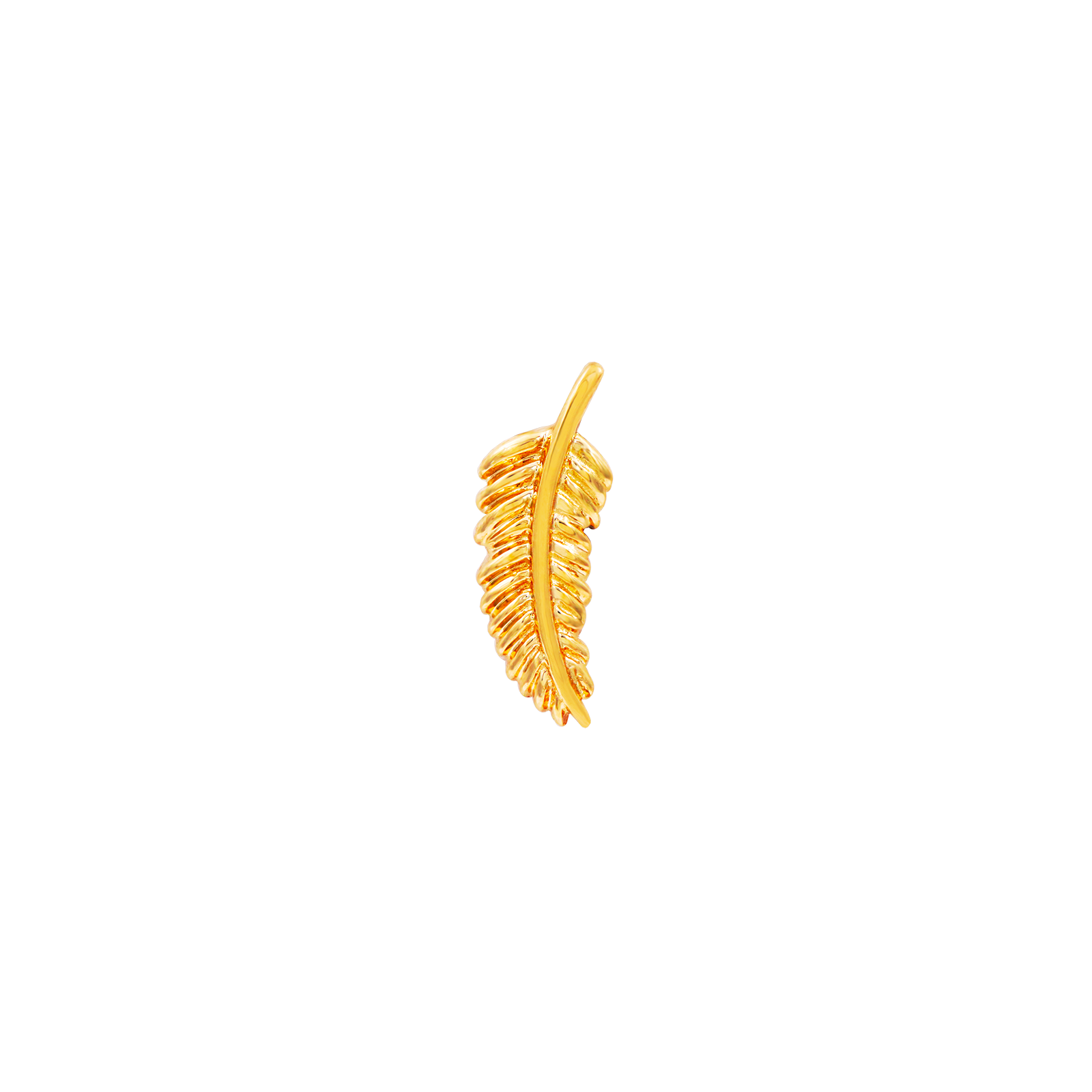 14ct Gold Feather Quill - Isha Body Jewellery