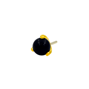 14ct Gold Prong-Set Onyx Ball