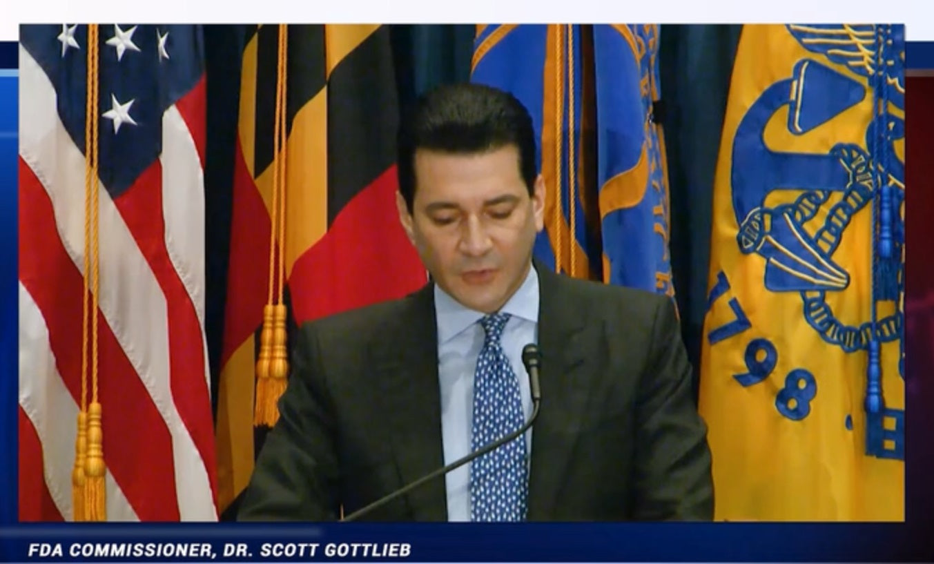 VIDEO: Scott Gottlieb says 'It's really all or nothing' regarding FDA Deeming regulations