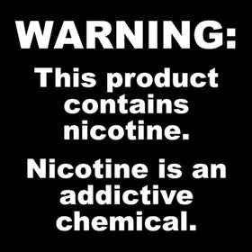 WARNING: This Product Contains Nicotine. Nicotine is an addictive chemical.
